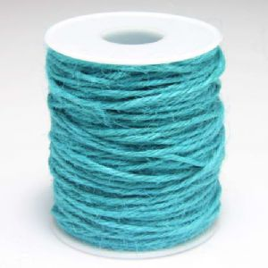 Unwaxed hemp cord, Hemp, Turquoise colour, 10m, Diameter 2mm, [LMS0018]